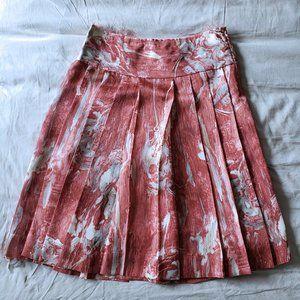 Club Monaco 100% Silk Pleated Skirt